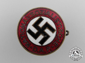 An NSDAP Party Badge, by Deschler