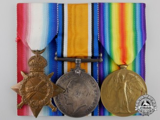 A First War Medal Group to the 7th Infantry Battalion; Lost at Gravenstafel Ridge 1915