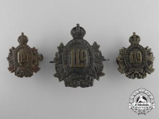 A 119th Infantry Battalion Insignia Set CEF