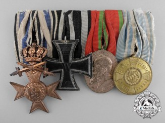 A First War Bavarian Long Service Medal Bar