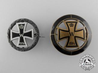 Two First War  German Iron Cross Badges