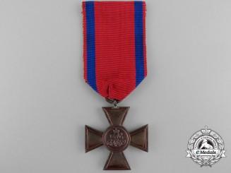 A Rare Oldenburg Gendarmerie Long Service Cross; 18 Years
