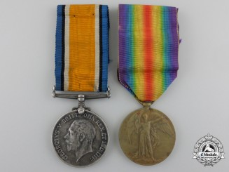 A First War Medal Pair to the 21st Canadian Infantry Battalion