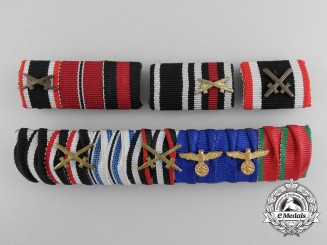 A Lot of Four German Ribbon Bars