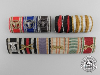 A Lot of Three German Ribbon Bars