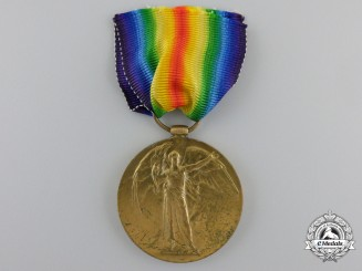 A First War Victory Medal to the 75th Battalion; Killed in Night Attack South of Blecourt