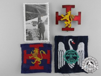 Three Spanish Civil War Period Falange Youth Insignias
