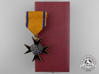 An Estonian Order of the Black Eagle; Fifth Class with Case