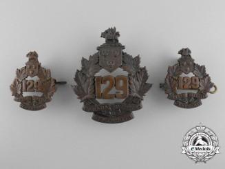 A Set of First War 129th Infantry Battalion Wentworth Battalion Insignia