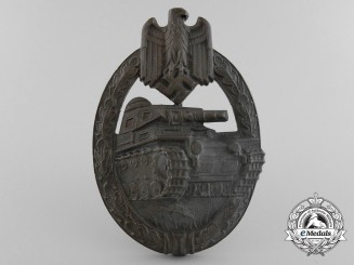 A Bronze Grade Tank Badge by Hermann Aurich, Dresden
