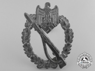 "A Silver Grade Infantry Badge; Marked ""2"""