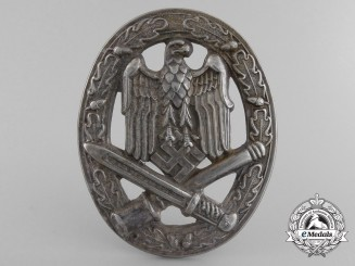 An Early General Assault Badge in Nickel-Silver; Unknown Maker #2