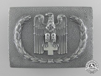 A Red Cross Enlisted Belt Buckle by Overhoff & Cie, Ludenscheid