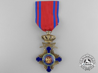 An Order of the Star of Romania, Knight with Crossed Swords; Type I (1877-1932)