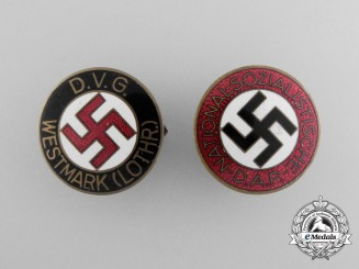 Two NSDAP Membership Badges