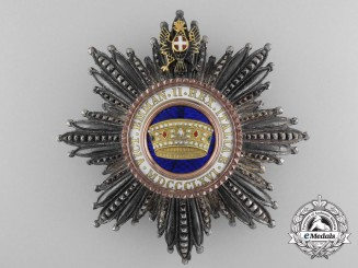 An Italian Order of the Crown; Grand Cross Star by  Cravanzola, Roma