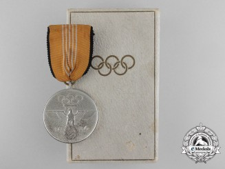 A German XI Berlin Summer Olympic Games Medal with Case