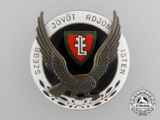 A Second War Hungarian Levente Leader's Badge