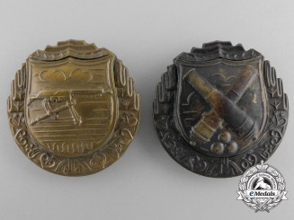 Two Czechoslovakian Proficiency Badges