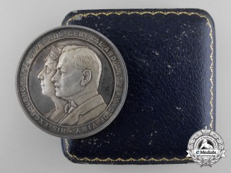 A Silver Canadian Governor General's Academic Medal 1921-1926 with Case