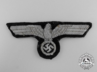 A Tunic Removed Panzer Officer's Bullion Breast Eagle