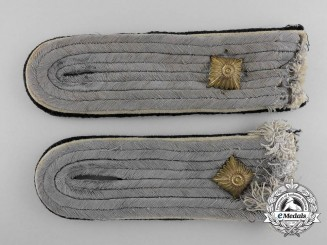 Germany. A Pair of SS Infantry Obersturmführer's Shoulder Boards