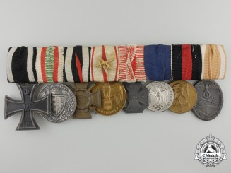 A German First & Second War Eight Piece Medal Bar