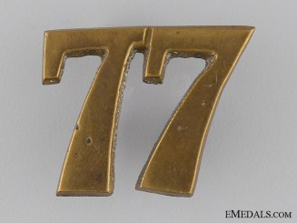 A 77th Canadian Militia Regimental Numeral c.1870