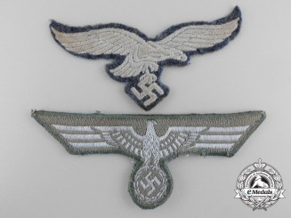 Two Second War German Breast Eagles