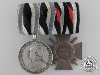 A First War Bavarian Silver Military Merit Medal Pairing