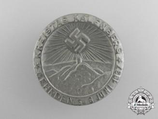 Germany, NSDAP. A 1937 Kalenberg Kreistag Tinnie