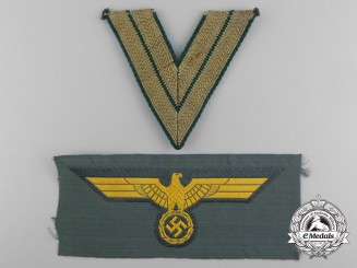Two German Coastal Artillery Insignia