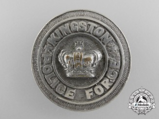 Canada, Dominion. An Early City of Kingston, Ontario Police Force Badge; Numbered