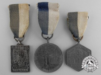 Three Second World War Era Royal Dutch Touring Club Travellers' Association Medals