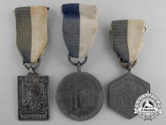 Three Second World War Era Royal Dutch Touring Club Travellers' Association Medals