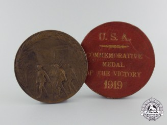 A First War American Saviours of Liberty Medal 1919 with Case