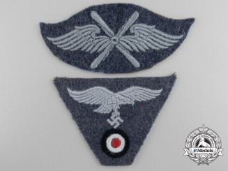 Two Cloth Luftwaffe Insignia