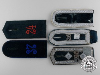 Five German Shoulder Boards
