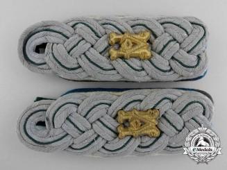 A Set of German Army Administration Major's Shoulder Boards