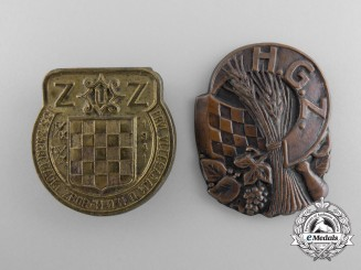 Two Croatian Badges