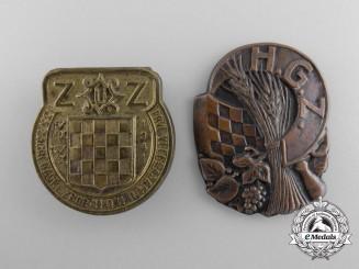 Two Croatian Badges