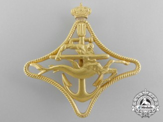 An Italian Royal Navy Torpedo Ships War Navigation Badge; 1st Class