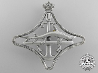 An Italian Royal Navy Submarines War Navigation Badge; 2nd Class