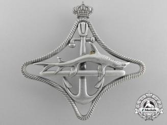 An Italian Royal Navy Submarines War Navigation Badge; 2nd Class