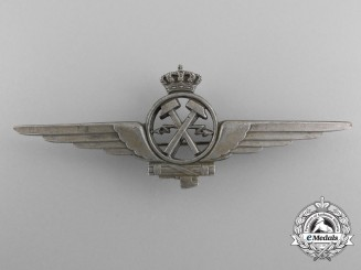 A Second War Royal Italian Air Force Fascist Era Electro-Mechanic Qualification Badge