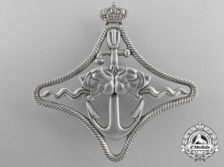 An Italian Royal Navy Battle Ships War Navigation Badge; 2nd Class