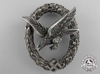 An Early Luftwaffe Air Gunner Badge by C.E.Juncker, Berlin