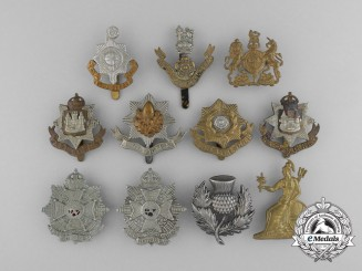 Eleven First War British Cap Badges