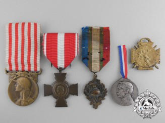 Five French Medals and Awards