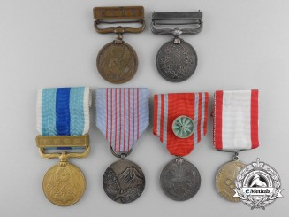Six Japanese Medals and Awards